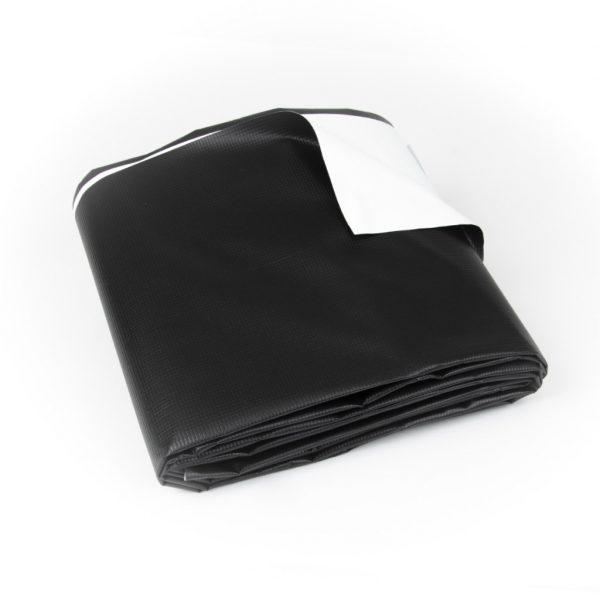 New Black/White Vinyl Tarp - Folded