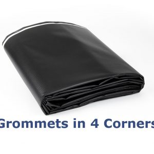 Black/White New Vinyl Tarp: Grommets in Corners