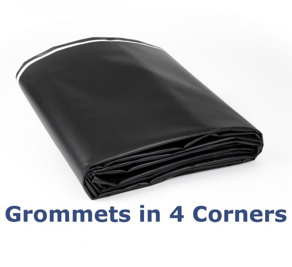 Black/White New Vinyl Tarp: Grommets in Corners