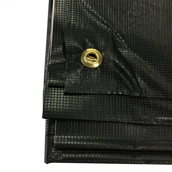 Black/White New Vinyl Tarp: Grommet Close-Up 1