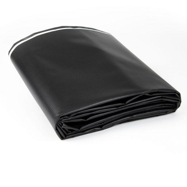 Black/White New Vinyl Tarp - Folded