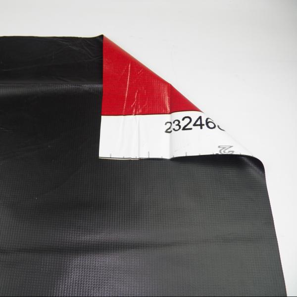 Billboard Vinyl Tarp: 13-16oz Black, No Pipe Sleeves