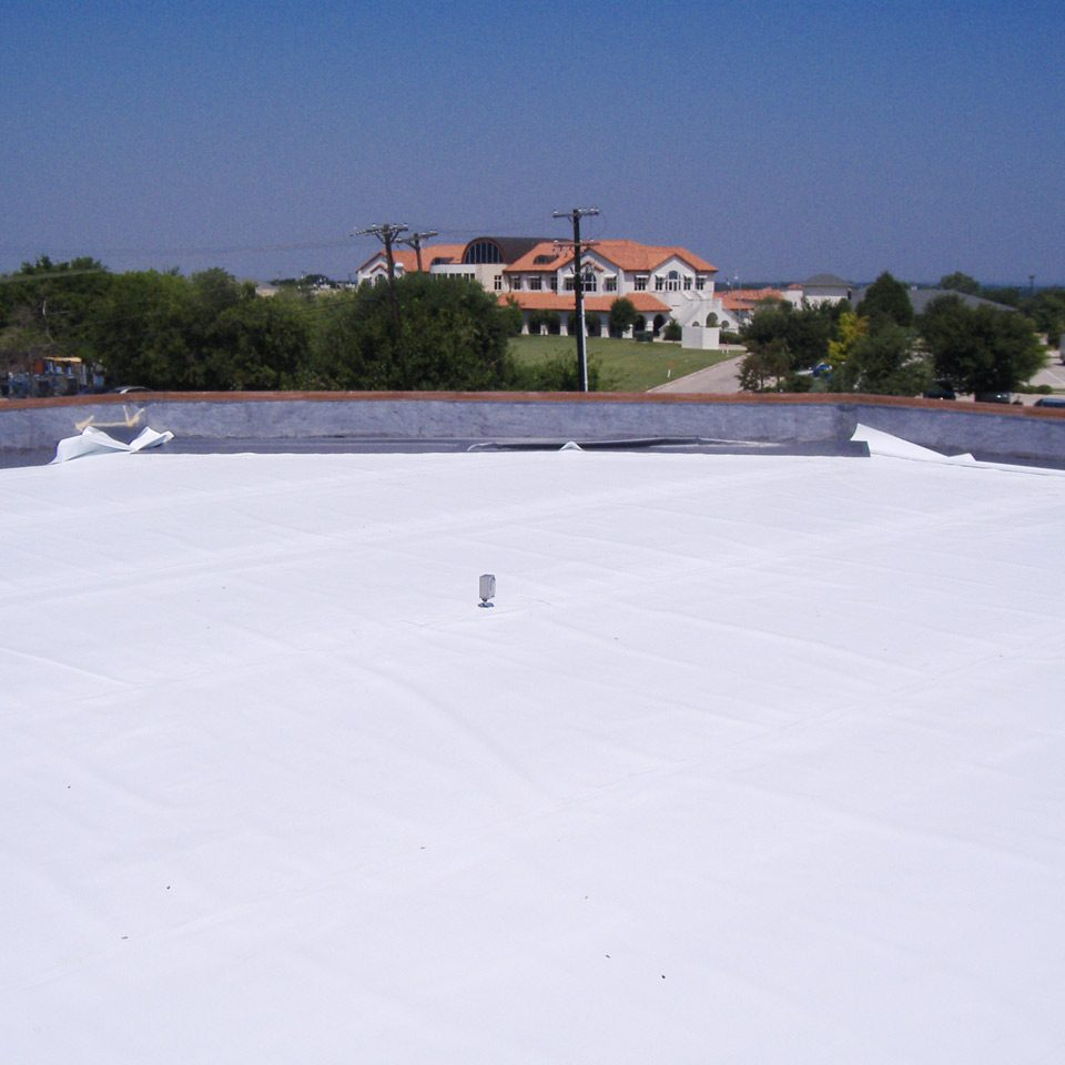 White Vinyl Roof Cover