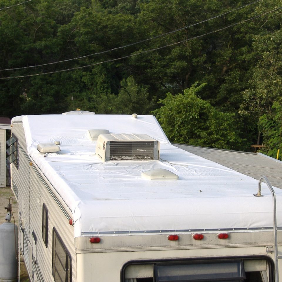 White Vinyl RV Cover