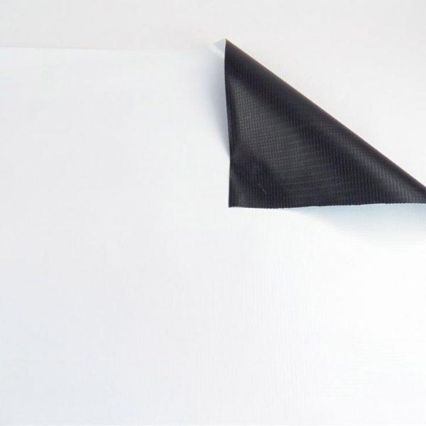 New White/Black Vinyl Tarp