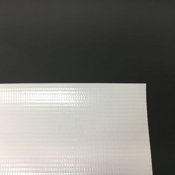 New 13 oz. White Vinyl Tarp - Corner
