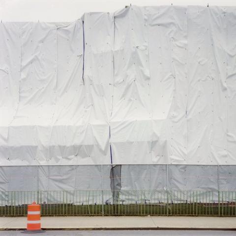 White Vinyl Construction Tarp