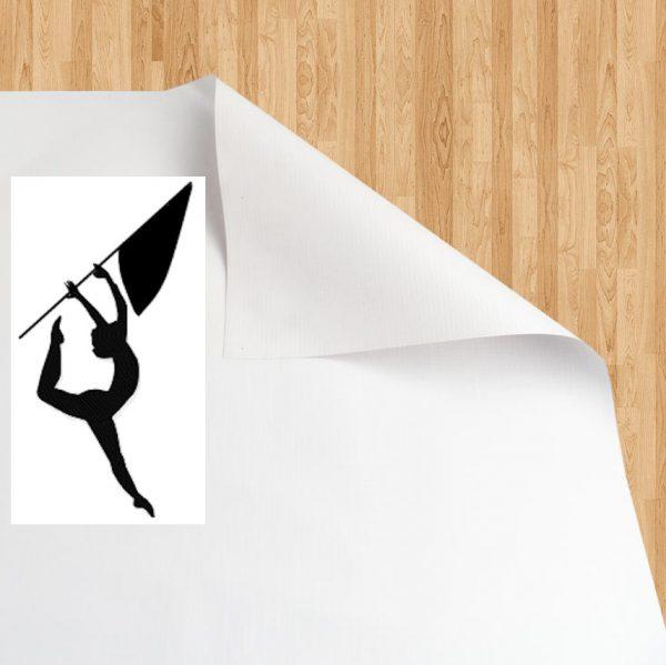 Vinyl Gym Floor Cover - White/White
