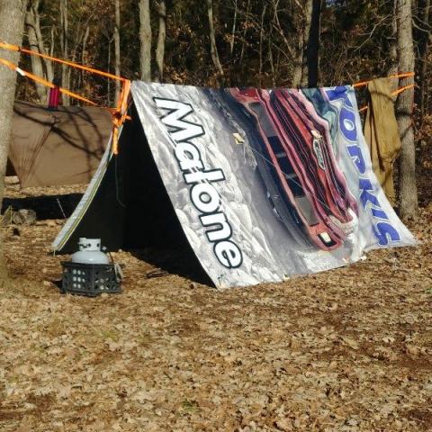 Billboard Tarp Tent Canopy