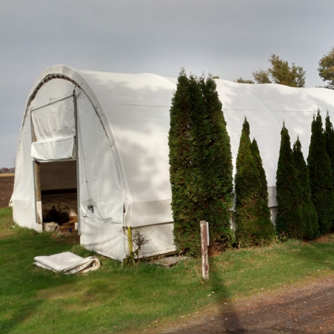 Vinyl Hoop House Cover Round Building Shelter Greenhouse Quonset Hut