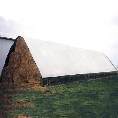 vinyl hay tarp white