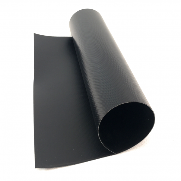 35 oz. 38 Mil Black Vinyl PVC Fish Pond Liner Tarp Close-up 1